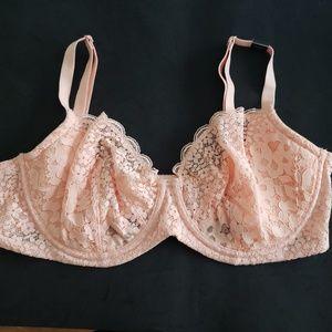 Body By Victoria Lace Crochet Unlined Bra NEW